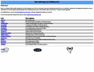 lists.midrange.com screenshot