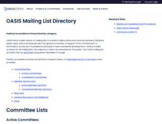 lists.oasis-open.org screenshot