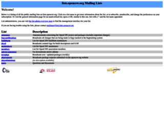 lists.opencsw.org screenshot