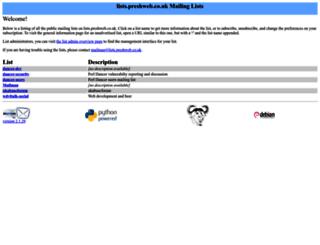 lists.preshweb.co.uk screenshot