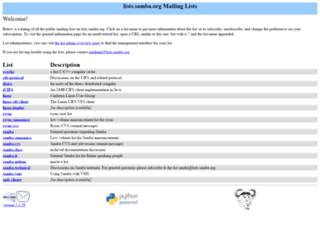 lists.samba.org screenshot