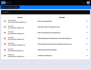 lists.webappsec.org screenshot