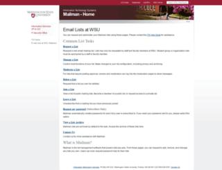 lists.wsu.edu screenshot