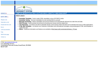 listserv.nodak.edu screenshot