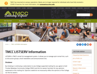 listserv.tmcc.edu screenshot