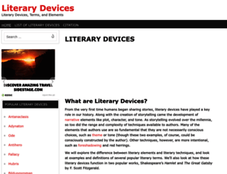 literarydevices.com screenshot