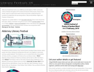 literaryfestivals.co.uk screenshot