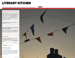 literarykitchen.co.uk screenshot