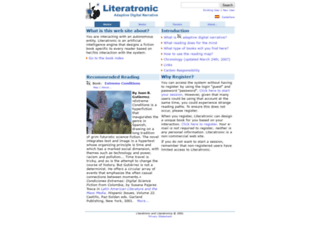 literatronica.com screenshot