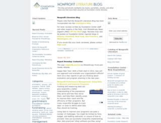 literature.foundationcenter.org screenshot