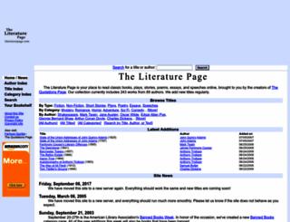 literaturepage.com screenshot