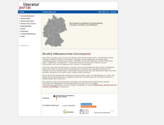 literaturportal.de screenshot