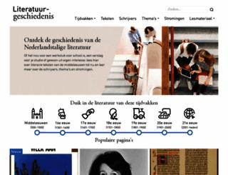 literatuurgeschiedenis.nl screenshot