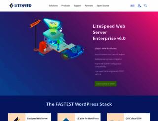 litespeedtech.com screenshot