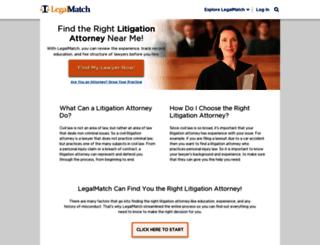 litigationattorneys.legalmatch.com screenshot