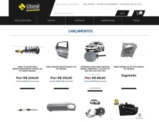 litoralpecas.com.br screenshot