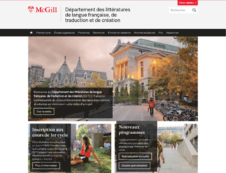 litterature.mcgill.ca screenshot