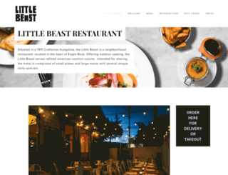 littlebeastrestaurant.com screenshot