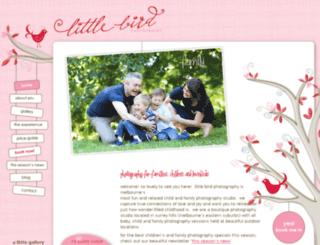 littlebirdphotography.com.au screenshot