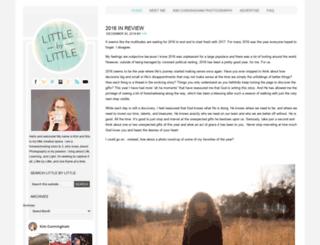 littlebylittleblog.com screenshot