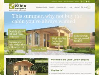 littlecabincompany.co.uk screenshot