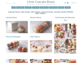 littlecupcakeboxes.co.uk screenshot