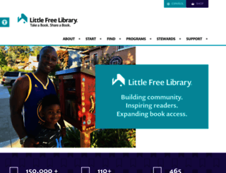 littlefreelibrary.org screenshot