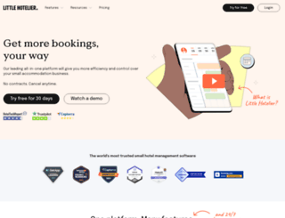 littlehotelier.com screenshot