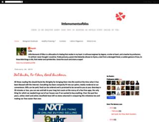 littlemomentsofbliss.blogspot.in screenshot