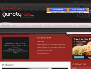 littlerock.ourcityradio.com screenshot