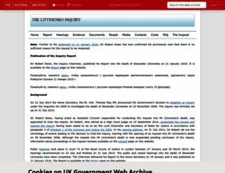 litvinenkoinquiry.org screenshot