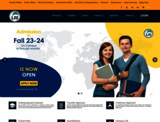 liu.edu.lb screenshot
