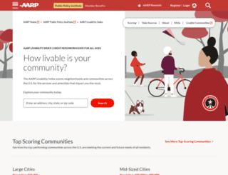 livabilityindex.aarp.org screenshot