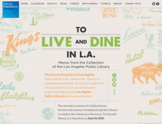live-and-dine.lfla.org screenshot