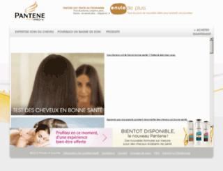 live-fr.pantene.com screenshot