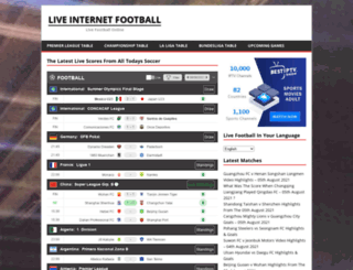 live-internet-football.com screenshot