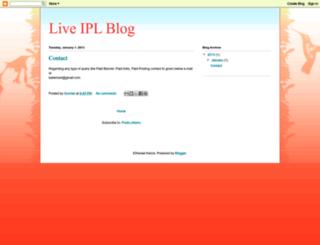 live-ipl-blog.blogspot.com screenshot