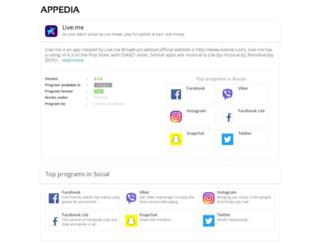 live-me.appedia.net screenshot