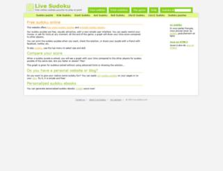 live-sudoku.com screenshot