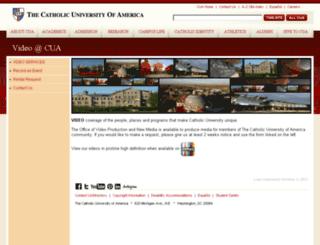 live.cua.edu screenshot