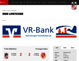 live.rot-weiss-erfurt.de screenshot