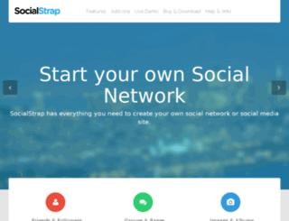 live.socialstrap.net screenshot