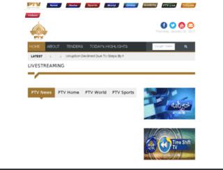 live.sports.ptv.com.pk screenshot