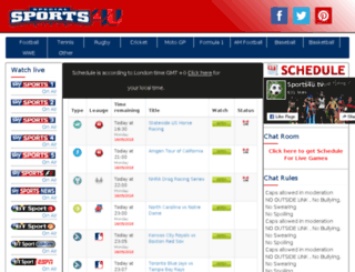 live.sports4u.tv screenshot