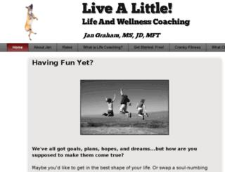livealittlecoaching.com screenshot