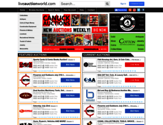liveauctionworld.com screenshot