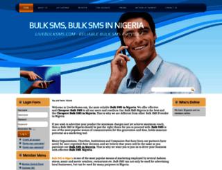 livebulksms.com screenshot
