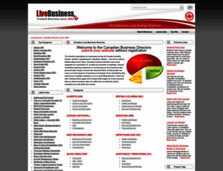 livebusiness.ca screenshot