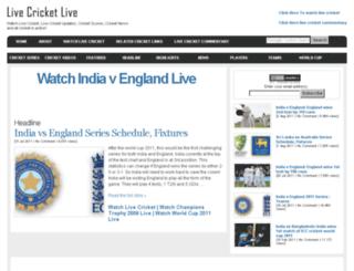 livecricketlive.com screenshot