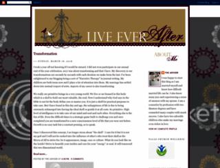 liveeverafter.blogspot.com screenshot